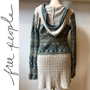 Free People long hooded striped cardigan Small
